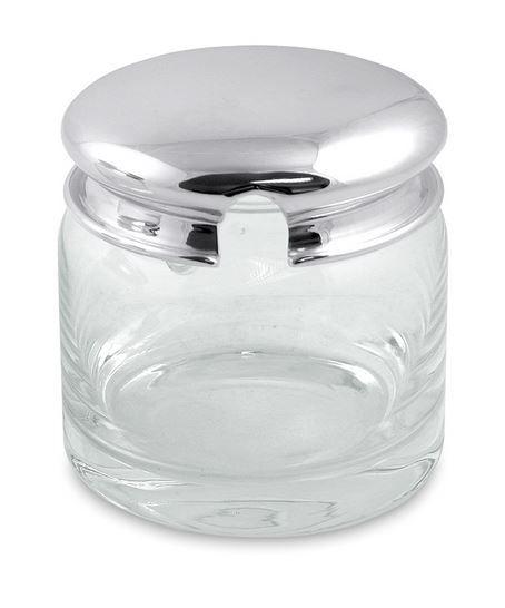 Marmeladenglas, Honigglas versilbert