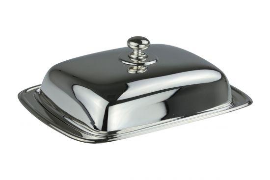 Sterling-Silber Butterdose glatt mit Deckel