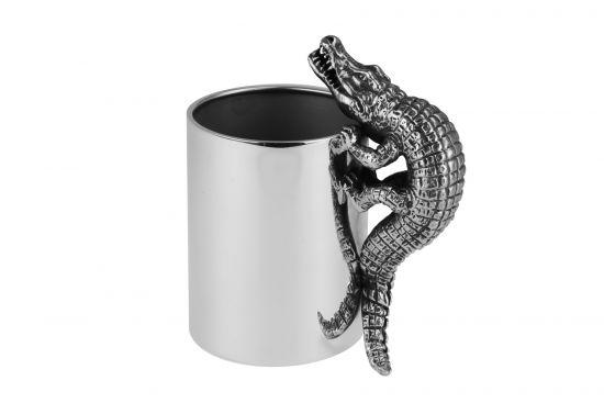Silber Stiftebecher Krokodil