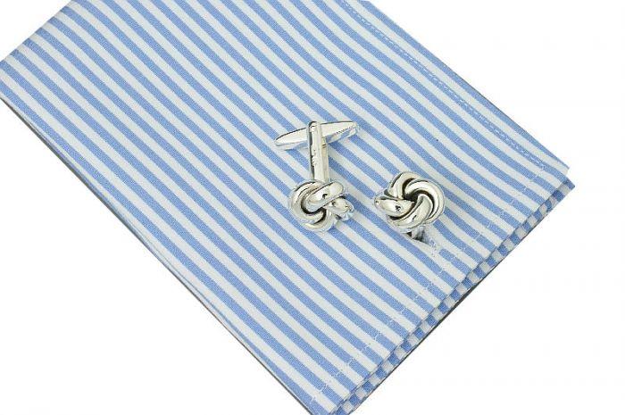 Manschettenknöpfe Knoten Sterling-Silber