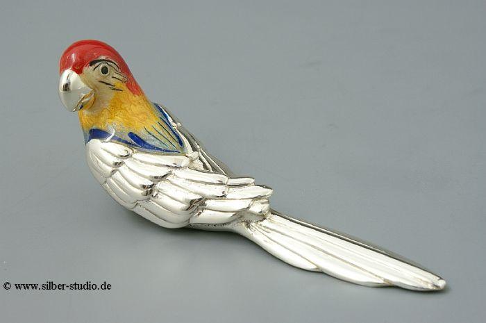Silber Papagei mittlere Größe