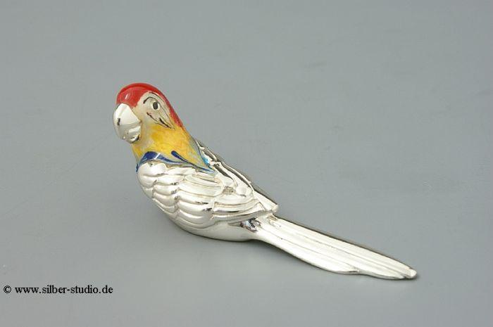 Silber Papagei klein