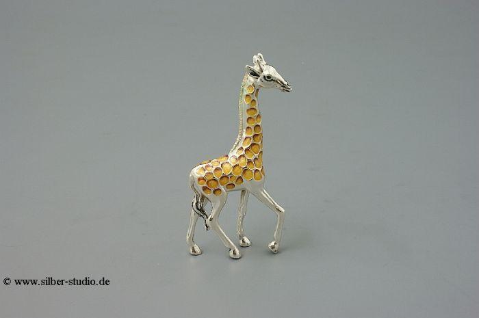 Silber Giraffe klein