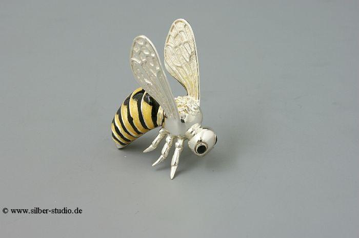 Silber Biene groß