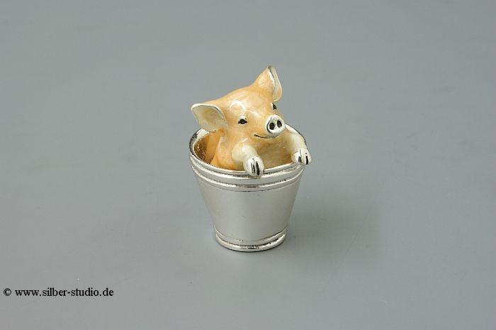 Silber Schwein im Eimer