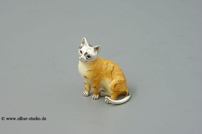 Silber Katze klein