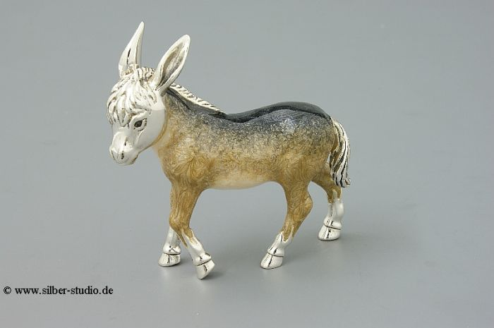 Silber Esel groß