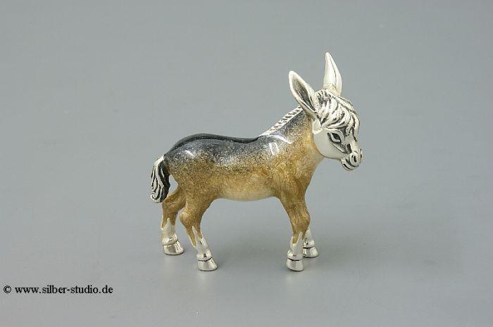 Silber Esel mittlere Größe