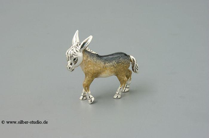 Silber Esel klein