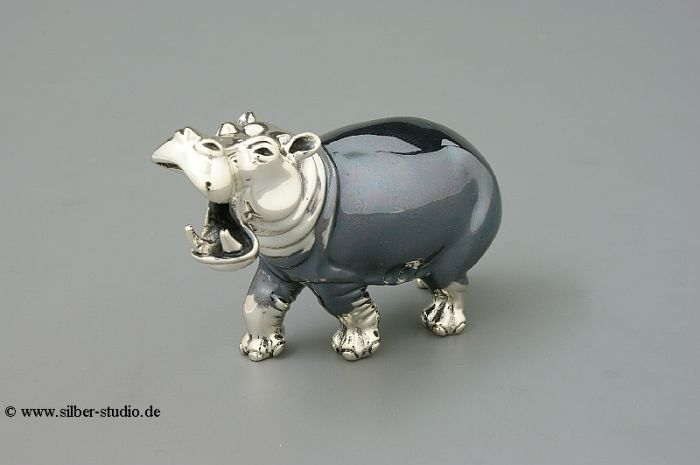 Silber Nilpferd groß