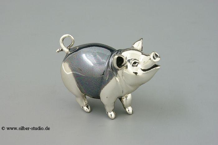 Silber Schwein geschwärzt