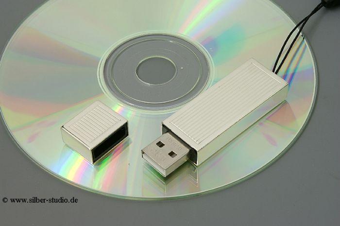 Silber USB Memory Stick