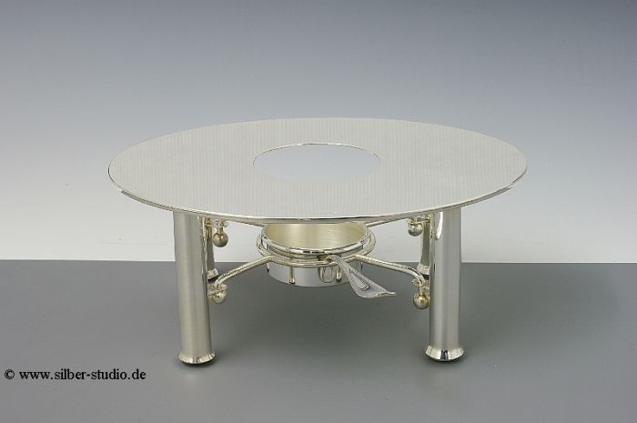 Silber Stövchen oval