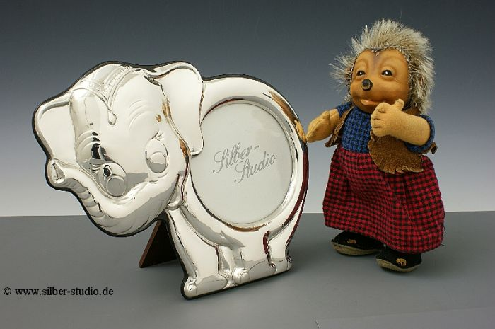 Silberrahmen Elefant