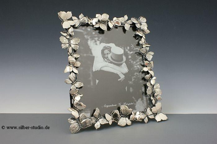 Silber Bilderrahmen Schmettelinge 18x22 cm