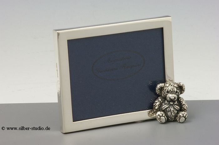 Silberrahmen mit Bär