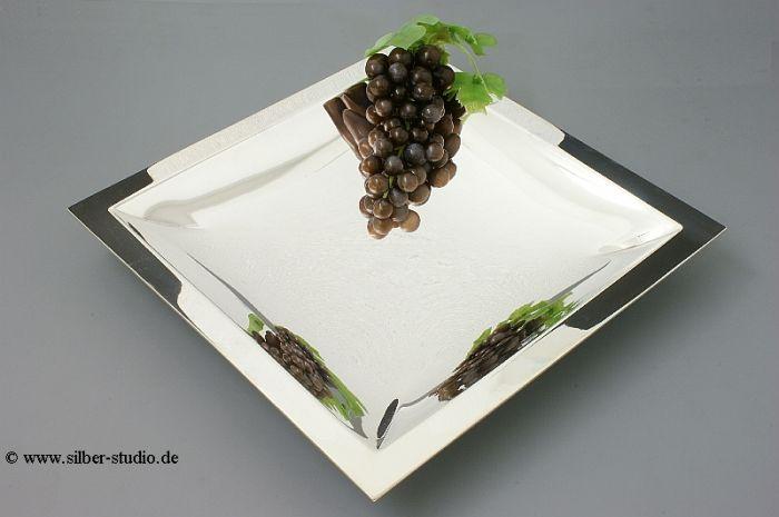 Silberschale quadratisch 34x34 cm