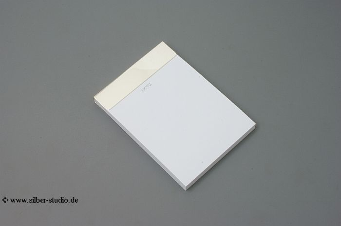 Notitzblock DIN A6 Silber 925