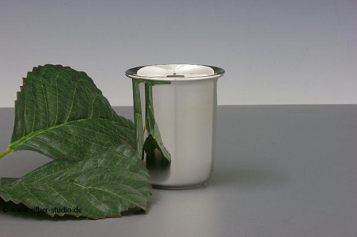 Silberbecher glatt 6 cm