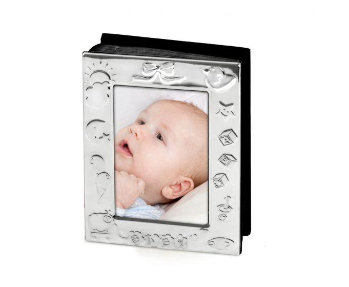 Fotoalbum  Babymotiv versilbert