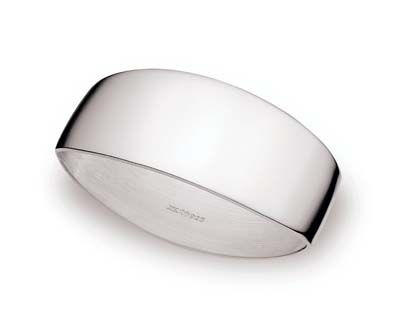 Sterling-Silber Serviettenring glatt Linsenform