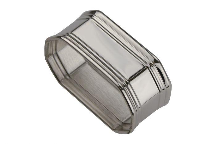 Silber Serviettenring breiter Fadenrand 8 eckig