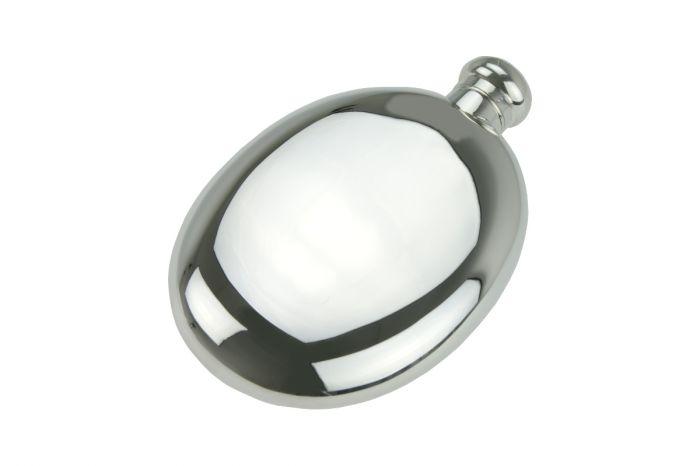 Sterling-Silber Flachmann glatt
