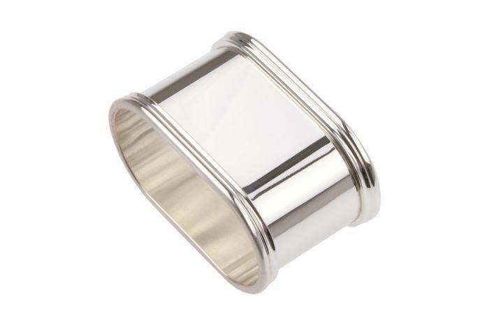 Sterling-Silber Serviettenring Fadenrand oval