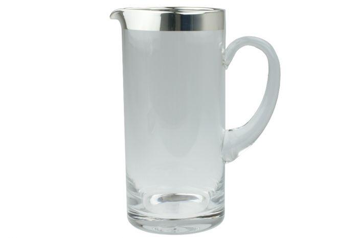 Kristallkrug mit Silberrand 1,5 Liter