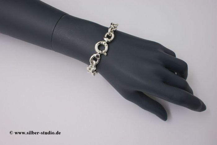 Armband Ringkette Sterling-Silber 925/000 massiv