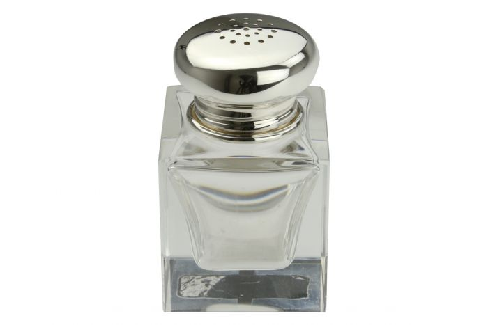 Salzstreuer glatt Silber+Kristall