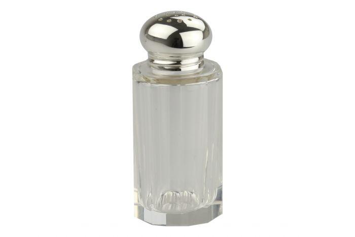 Pfefferstreuer Facett Silber+Kristall 7,4 cm