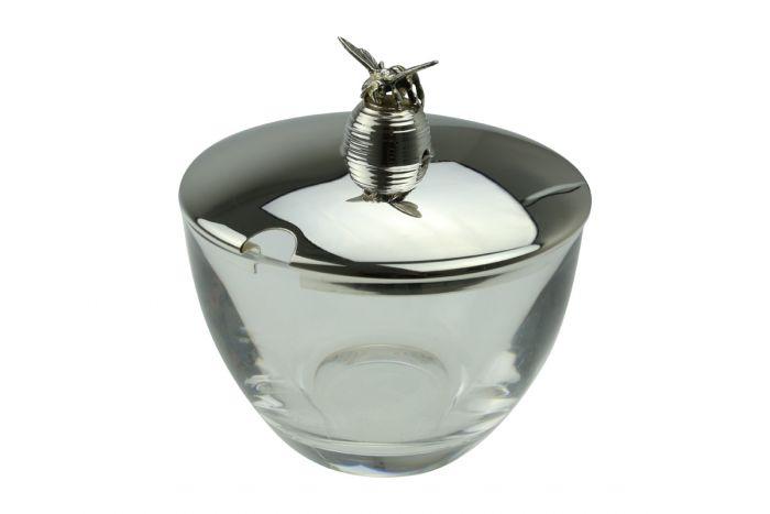 Sterling-Silber Honigglas