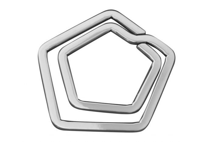 Geldklammer glatt 5-eckig Sterling-Silber