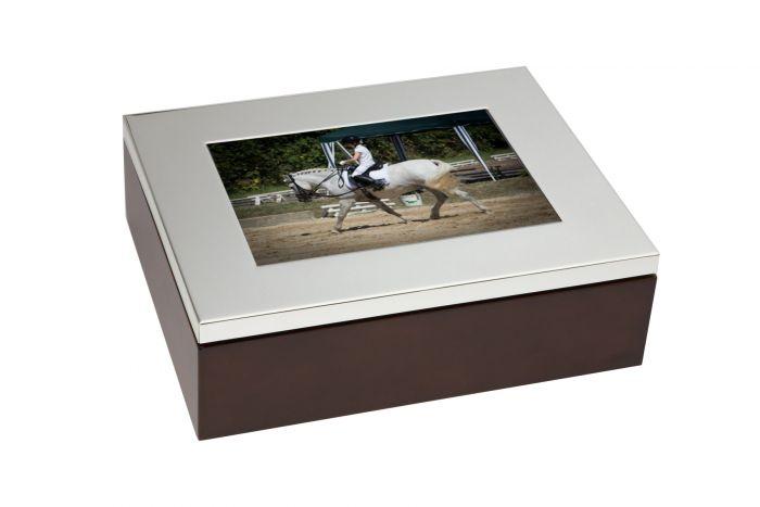 Fotokasten versilbert glatt 11,5x16,5 cm