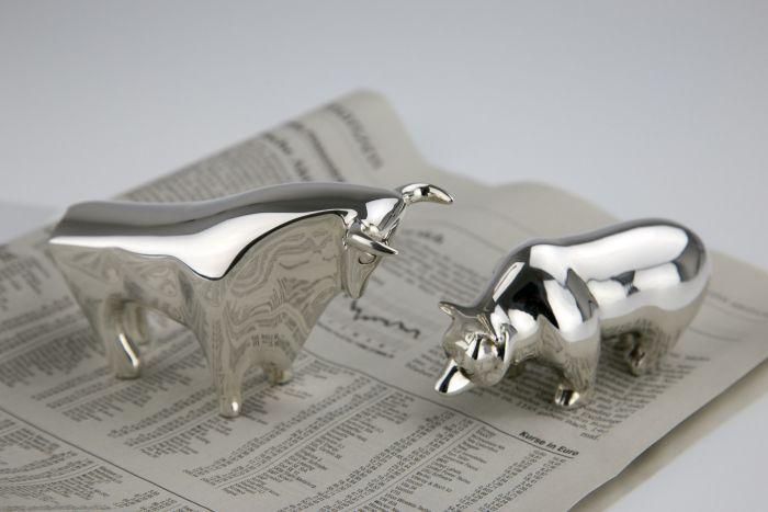 Bulle und Bär Sterling-Silber