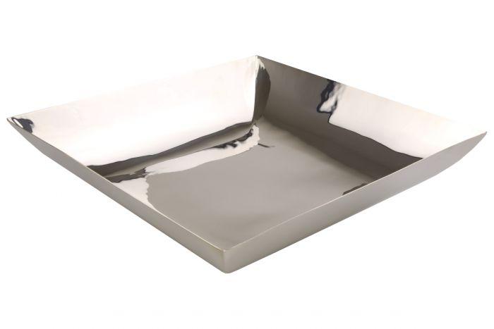 Schale quadratisch versilbert 31x31 cm