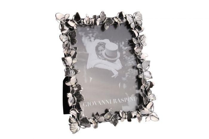 Silber Bilderrahmen Schmettelinge 9x12 cm