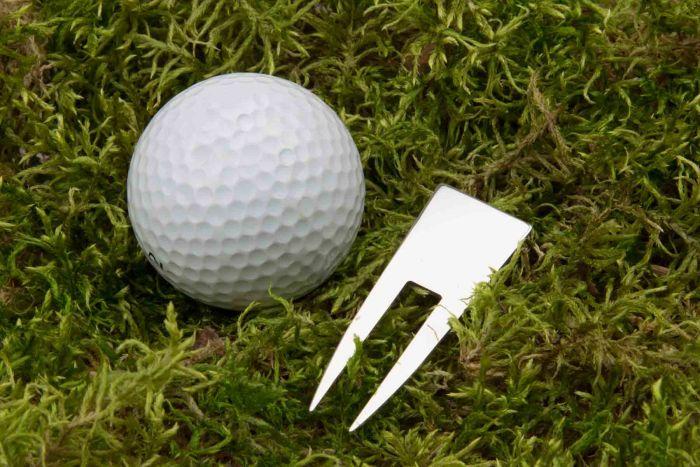 Silber Greengabel Pitchgabel Golf