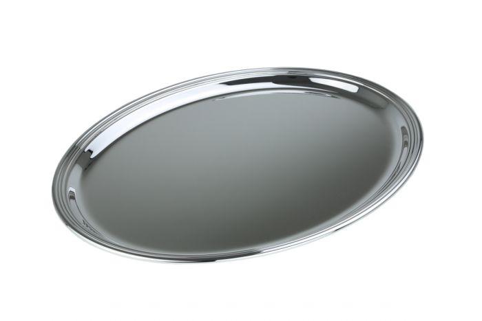 Tablett oval versilbert 42 x 32 cm