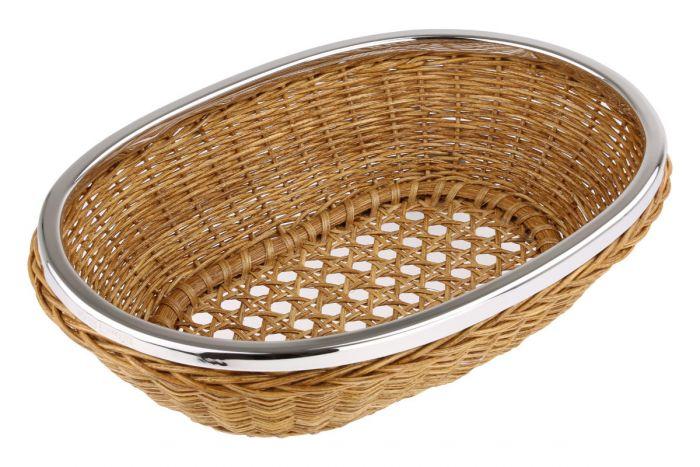 Brotkorb oval mit Silberrand