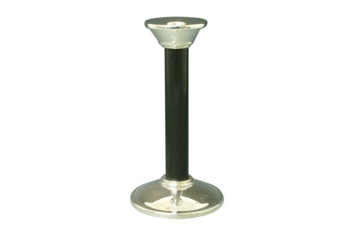 Silber Kerzenleuchter Bauhaus Ebenholz 19 cm