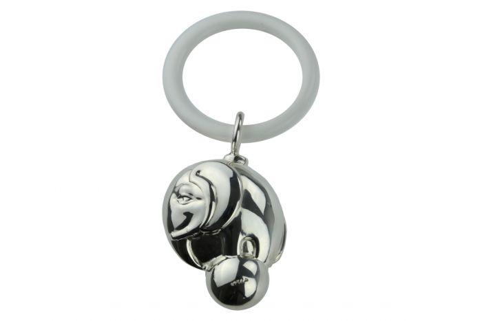 Silber Beissring Elefant auf Ball
