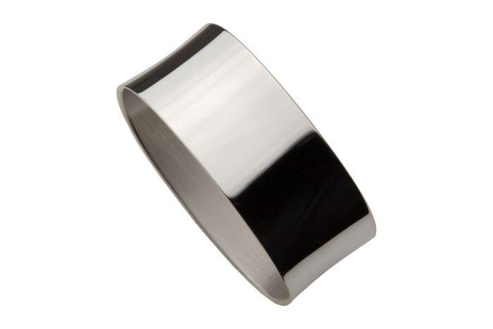 Silber Serviettenring glatt modern