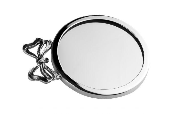 Taschenspiegel Schleife Silber