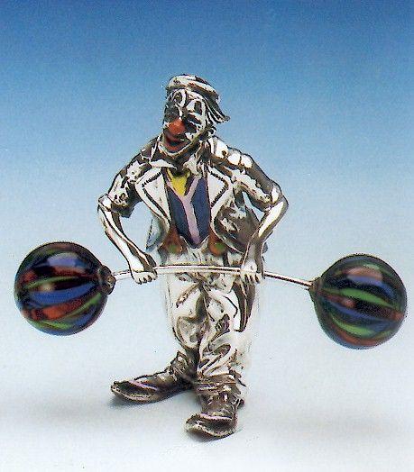 Clown Gewichtheber
