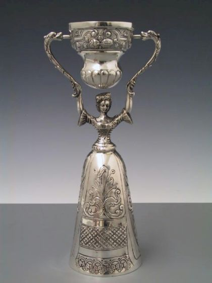 Silber Hochzeitsbecher Brautbecher 20,5 cm