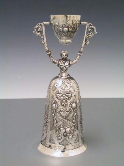 Silber Hochzeitsbecher  Brautbecher 18 cm
