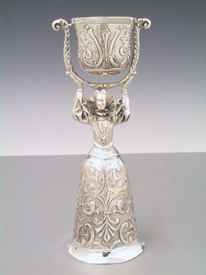 Silber Hochzeitsbecher Brautbecher 18,5 cm