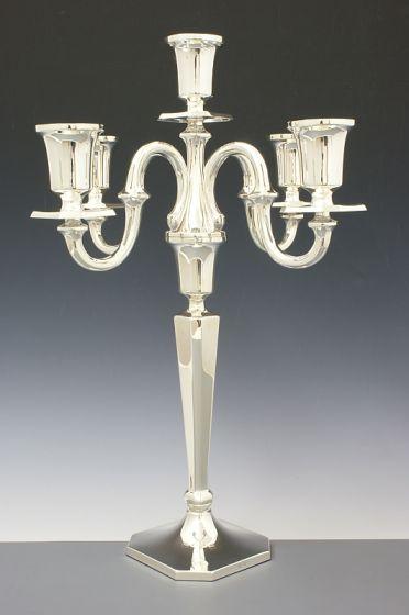 Silber Kerzenleuchter 5 armig